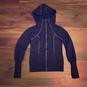 Buddhaful Flower of Life Hoodie Black Small